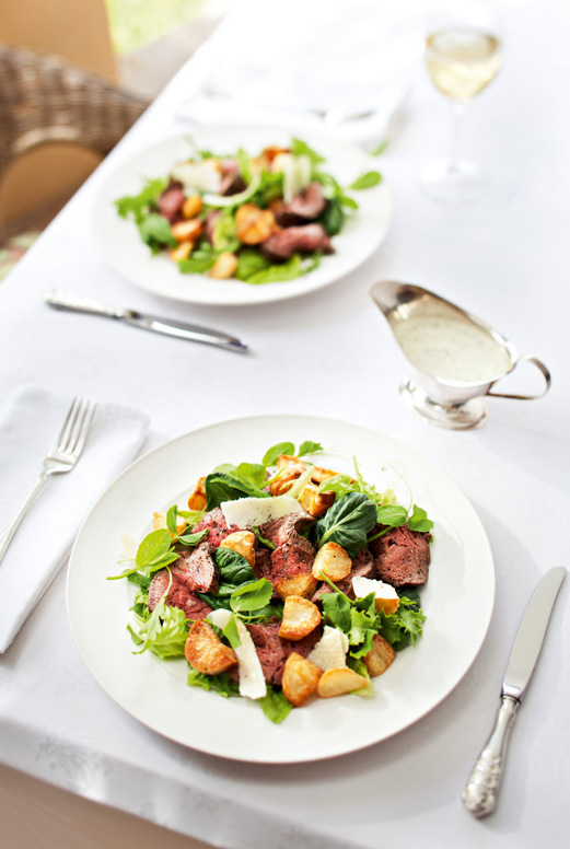 Fillet Salad with a Green Goddess Dressing by Jane Anne Hobbs