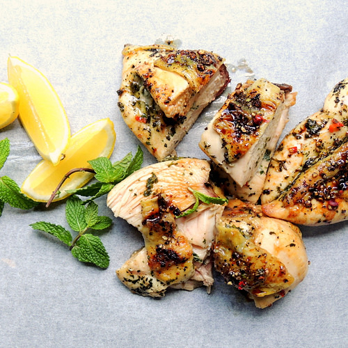 Peppercorn Chicken with Chilli & Mint