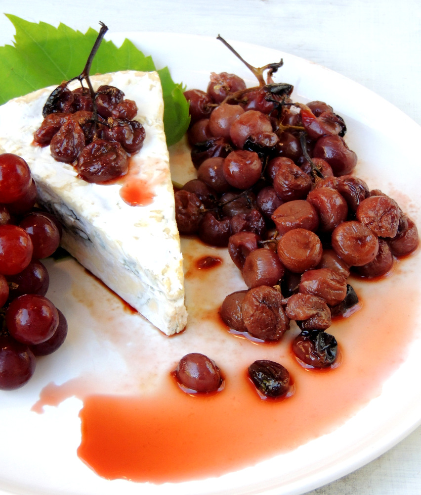 Oven-Roasted Grapes with Blue Camembert