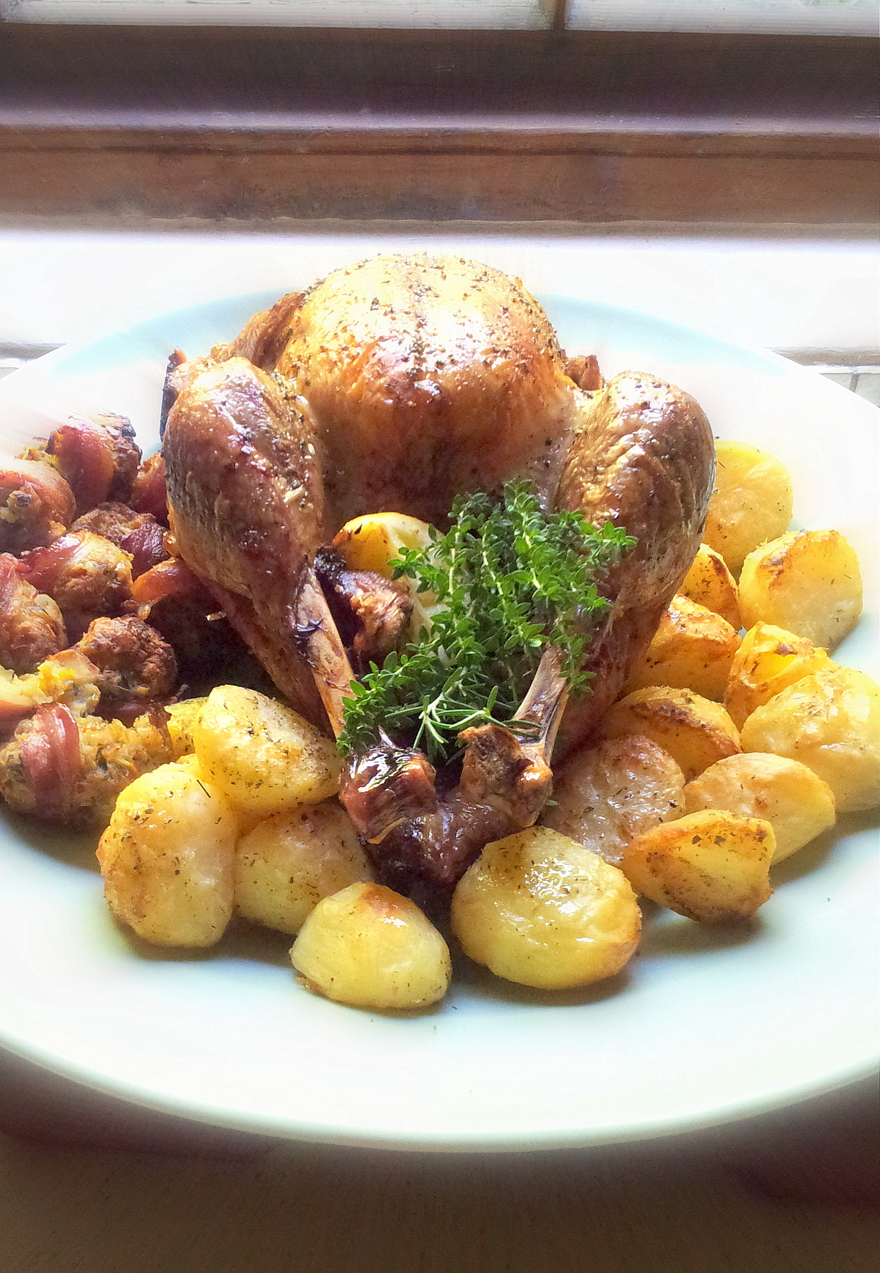 Christmas Turkey with Bacon and Apricot Stuffing Balls