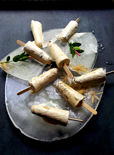 Rum and Raisin Creamsicles