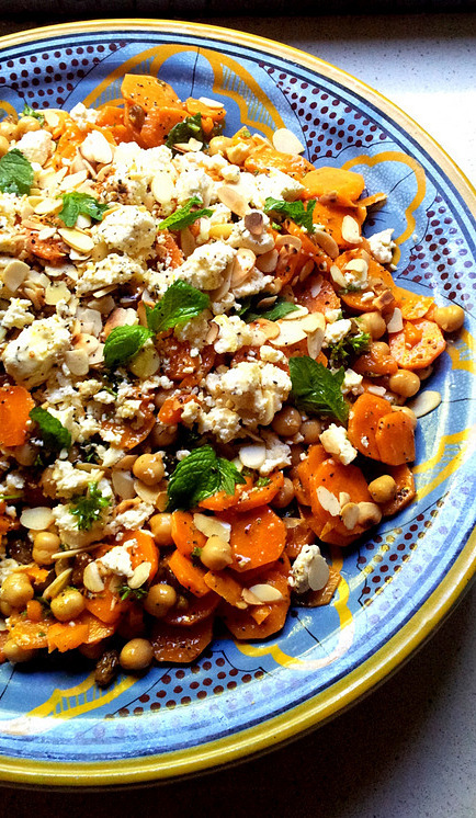 Moroccan-Spiced Carrot and Chickpea Salad with Mint & Almonds ...