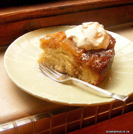 Apple Butterscotch Upside-Down Cake