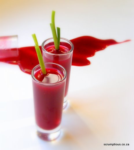 Beetroot and Gin Shots