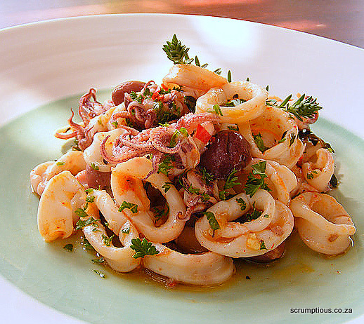 Marinated Calamari Salad with Thyme, Lemon and Paprika