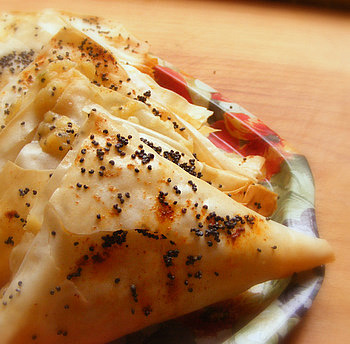 Scrumptious Soccer Snacks: Potato, Cheese and Chilli Phyllo Triangles