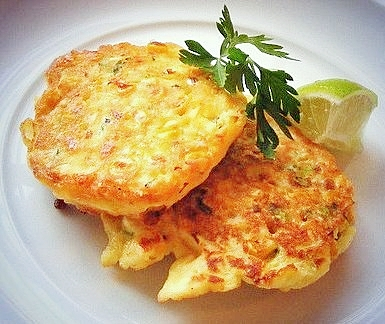 Quick Sweetcorn, Feta and Leek Fritters