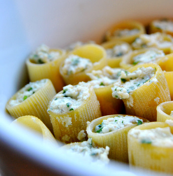 Parsley-Filled Paccheri with a Tomato Butter Sauce