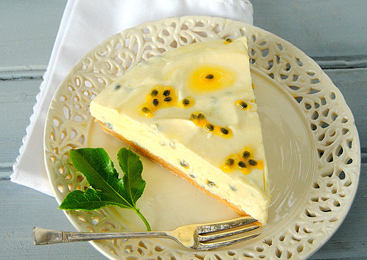 Passion Fruit, Crème Fraîche and White Chocolate Cream Pie