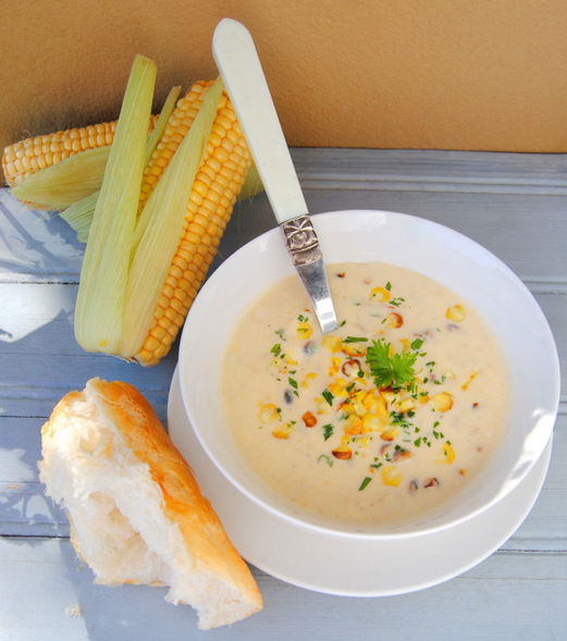 Braaied-Mielie and Chicken Soup: Creamy, with a Hint of Chilli
