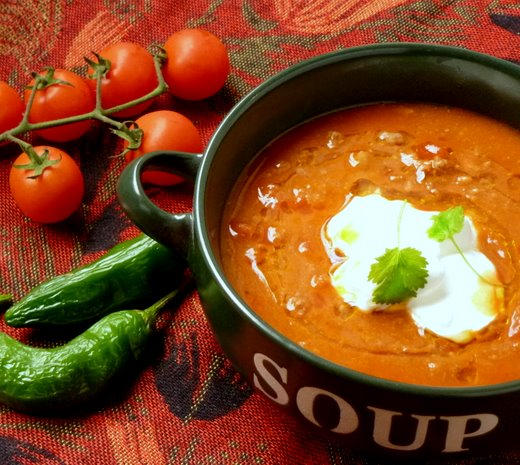 Blend-Ahead, Deeply Delicious Spicy Mince,  Bean and Tomato Soup