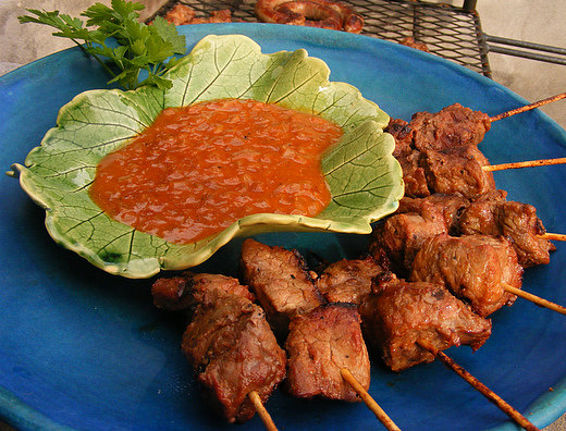 Steak Kebabs with a Monkey-Gland Dipping Sauce