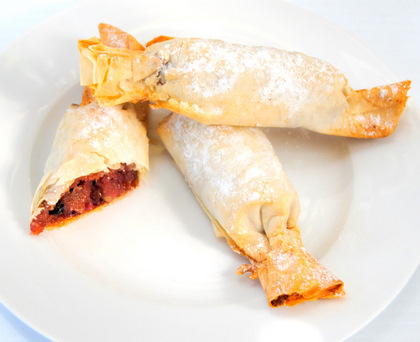 Festive Phyllo Crackers with a Spicy Plum and Almond Filling