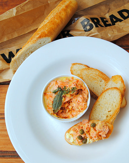 Old-fashioned Potted Salmon (or Trout) with Mace and Cayenne Pepper