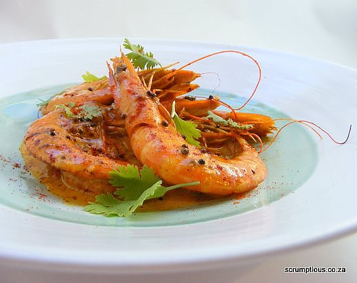 Spicy Prawns with Paprika and Coconut Cream